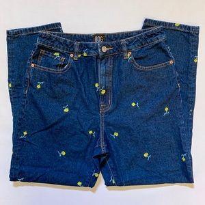 BDG Jeans - BDG Flower Mom High Rise Slim Crop Jeans Size 30